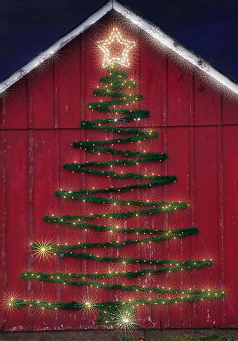 Make Your Very Own Wall Tree This Christmas Tree Made Of Lights On Wall