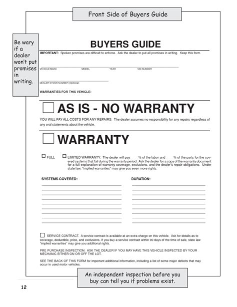 best photos of as is no warranty bill of sale form used