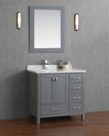 buy vincent 36 inch solid wood single bathroom vanity in