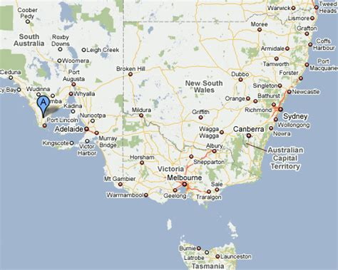 map of south east australia mount gambier map and mount gambier satellite image