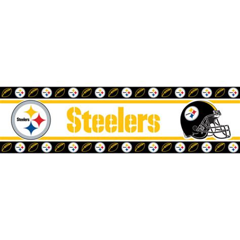 Chicago Bears Rug Pittsburgh Steelers Nfl Peel And Stick Wall Border