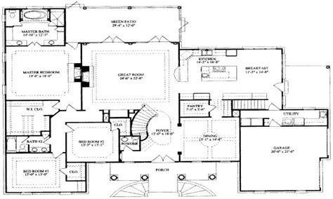 A House Plan by 8 Bedroom Ranch House Plans 7 Bedroom House Floor Plans 7