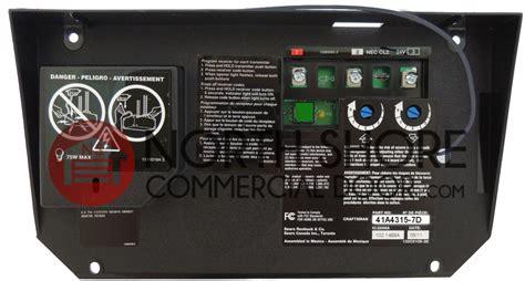 Craftsman 41a4315 7d Garage Door Opener Circuit Board by Craftsman 41a4315 7b Garage Door Opener Circuit Board