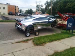 Lamborghini Jeep For Sale Chrome Lamborghini Crashes Into Jeep Wrangler In Michigan