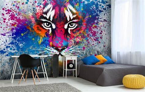 graffiti style wallpaper for bedroom graffiti wallpaper for your teenager s bedroom wallsauce
