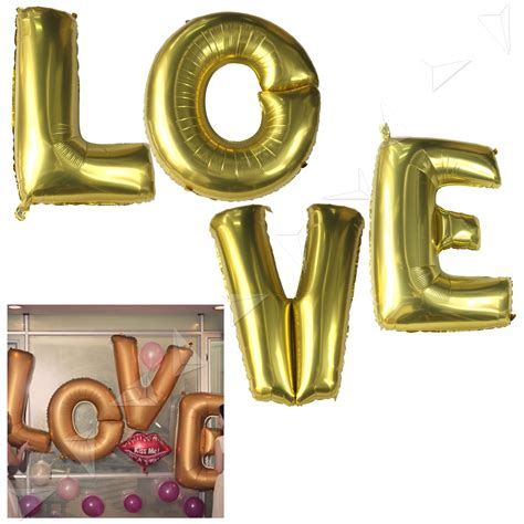 Balon Foil And Groom For Wedding Bridal Shower Balloon large 40 quot letter balloons gold foil wedding