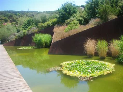 Landscape Architecture Barcelona Barcelona Botanical Garden Corten Steel