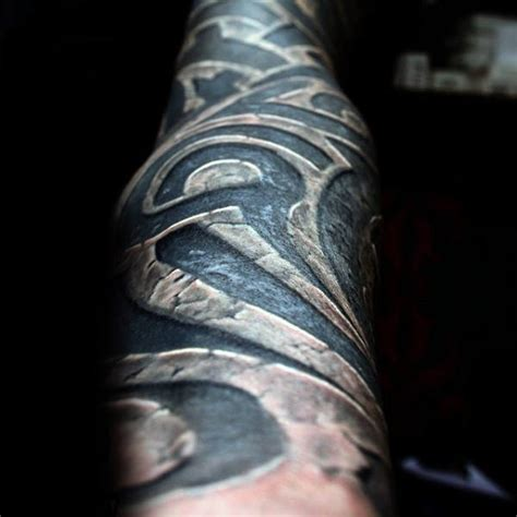 stone tribal tattoo 60 tribal forearm tattoos for manly ink design ideas