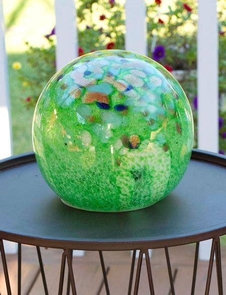 solar glass spirit orb solar globe light gardeners supply
