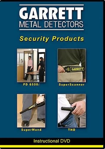 garrett metal detectors 1678600 security products dvd