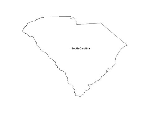 south carolina state printable map of the state of south carolina eprintablecalendars