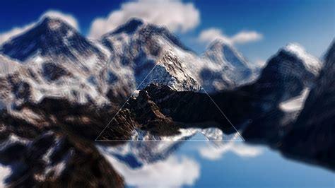 landscape digital art triangle mount everest himalayas