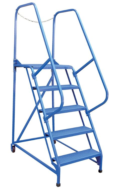 aircraft maintenance step ladders 7 step portable maintenance ladders with perforated steps