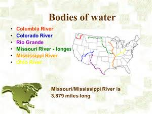 america bodies of water map america the continent presentation geography