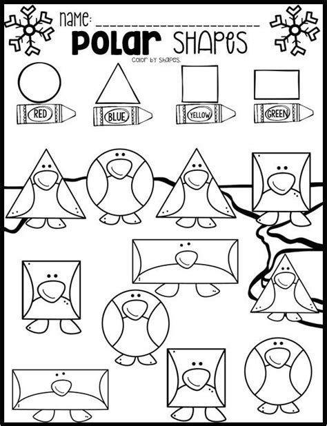 printable january worksheets polar animal math and literacy worksheets for preschool