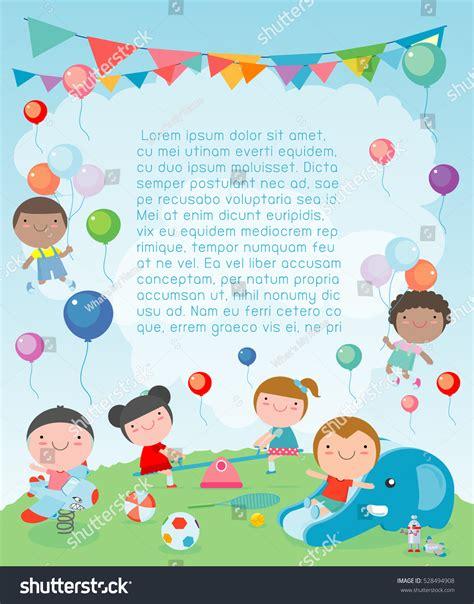 Children Playground Template Advertising Brochure Kids Stock Vector 528494908 Shutterstock Playground Template