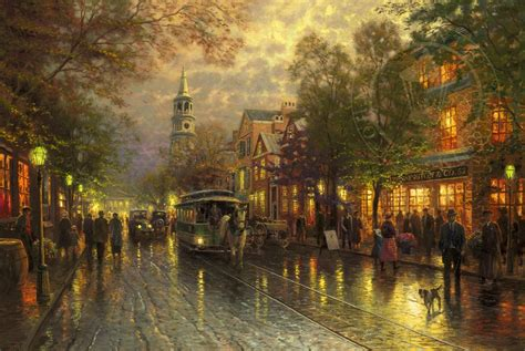 who is the painter of light evening on the avenue limited edition the