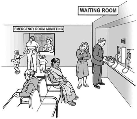 Man sings in er waiting room