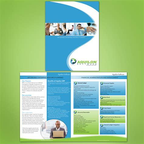 graphic flyer design software print design contests 187 aquilon software brochure 187 design