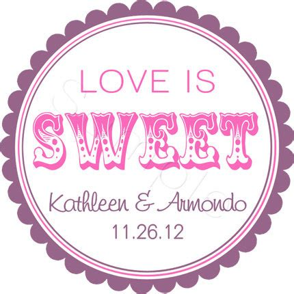 Wedding Favors Stickers by Custom Wedding Favor Stickers Is Sweet Personalized