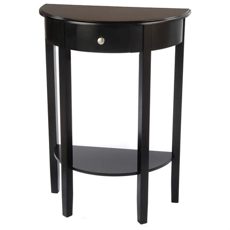 Half Moon Table With Drawer 236453 Living Room At