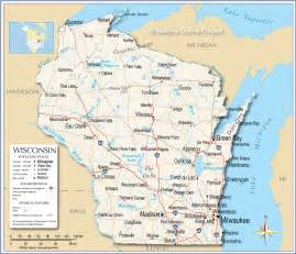wisconsin map reference map of wisconsin usa nations project