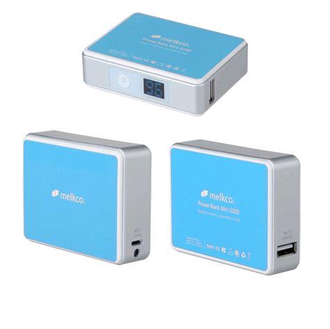 Power Bank Mini melkco power bank mini 5200 2 1a output 5200mah blue