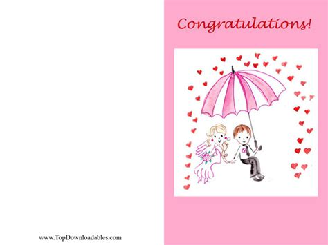 free printable greeting cards bridal shower 6 best images of free printable wedding greeting cards