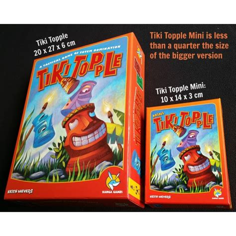 Tiki Topple boardgames tiki topple mini