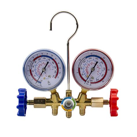 Manifold R134a new r134a r502 r22 r12 hvac hoses refrigeration kit service manifold gauges set tosave