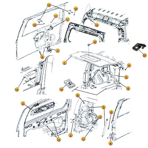 jeep liberty liftgate parts  kk morris  center jeep liberty kj parts diagrams