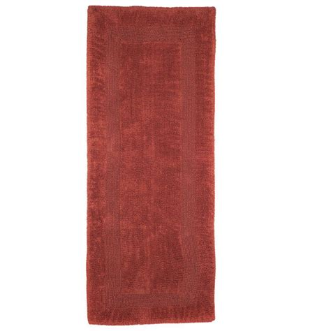 bathroom runner rugs lavish home brick 2 ft x 5 ft cotton reversible bath rug runner 67 0019 bri the