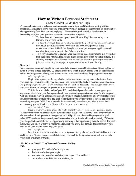 personal statement for resume sle how to write a personal 28 images how to write a
