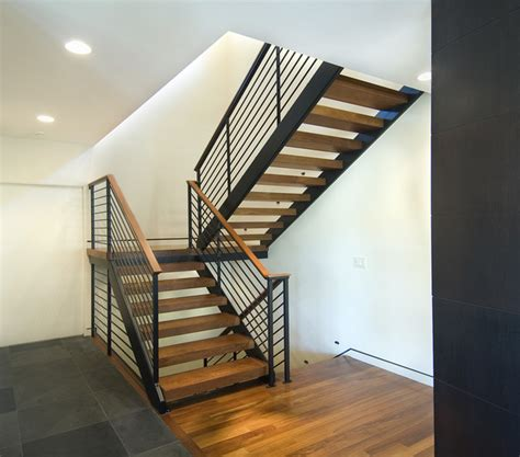 Architectural Stairs Design Open Modern Stair Modern Staircase Minneapolis By White Space Architecture