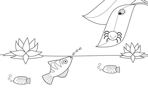 free coloring pages of slippery fish