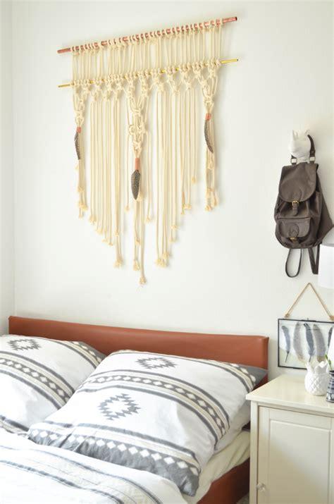 makramee wandbehang make it boho diy makramee wandbehang mit kupfer und