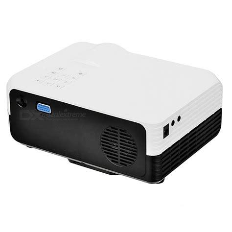Mini Led Digital Projector White mini portable digital led projector w dvb t2 white