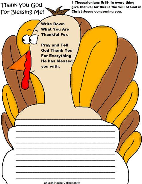 lessons on thanksgiving church house collection blog printable turkey writing