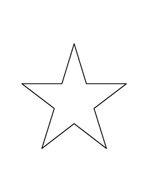 printable star template david 6 inch star pattern use the printable outline for crafts