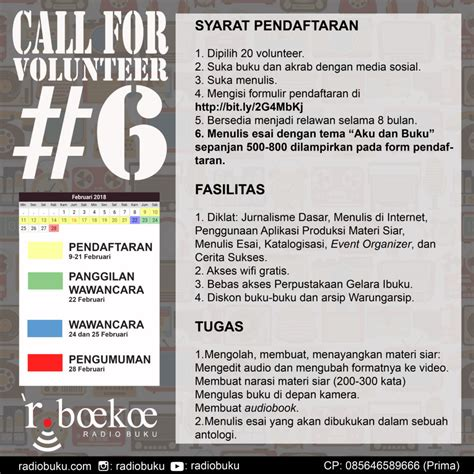 Buku Call From An call for volunteer 6 radio buku