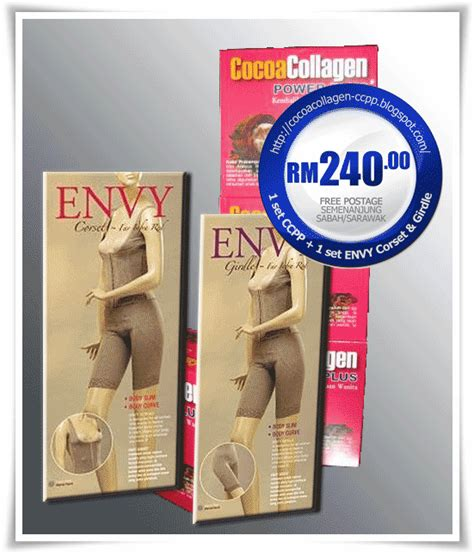 Harga Envy Corset cocoa collagen promosi 1 cocoa collagen power plus