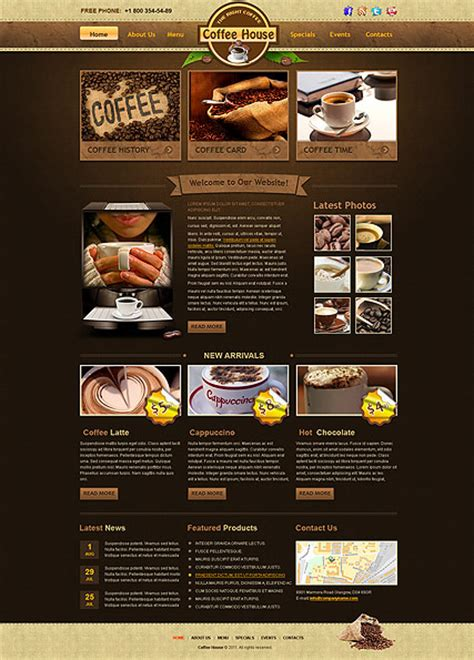buying house website template coffee house html website template best website templates