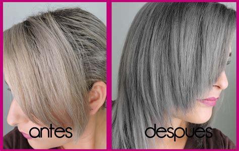 tintes de cabello color gris como retoco mi cabello de gris silver hair retouching