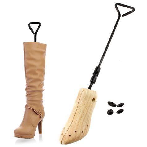 1 2x pine wood boot shoe tree 2 way stretcher
