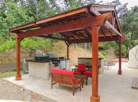 outdoor pavillon outdoor kitchen pavilion redwood pavilion kit for kitchens