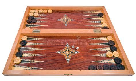 Handmade Backgammon - wooden handmade backgammon board isolated on white royalty