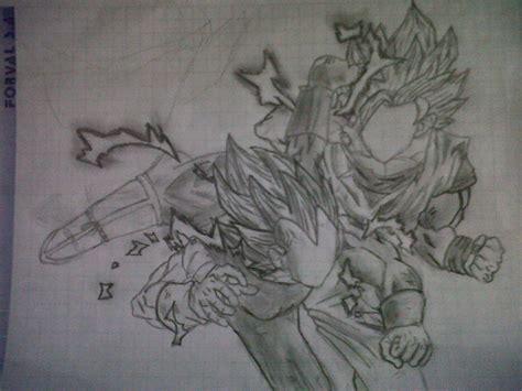 imagenes de goku hechas a lapiz dibujo ha mano dragon ball z goku vs vegeta arte taringa