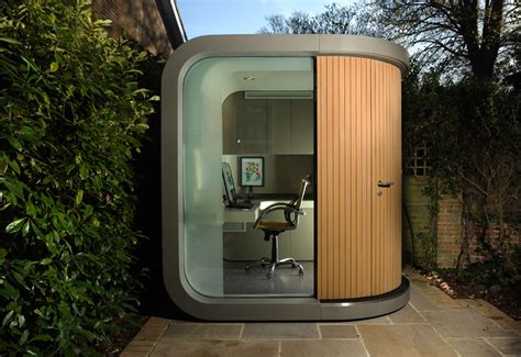 backyard office pod officepod contemporary home office in your backyard