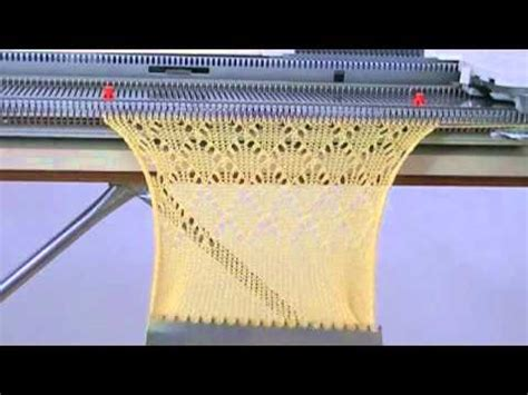 pattern machine you tube testing the lc 2 lace carriage with my singer 740 knitting