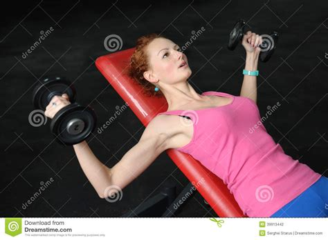 bench press for girls young girl doing dumbbell incline bench press workout
